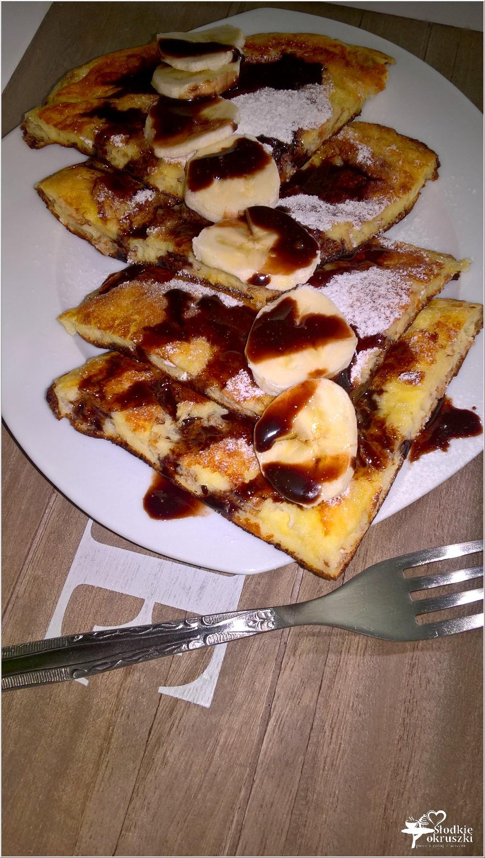 Lekko karmelowy omlet z płatkami orkiszowymi (2)