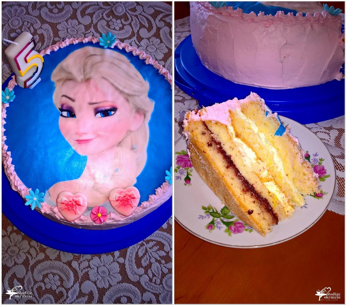 Truskawkowo-cytrynowy tort urodzinowy. 5 lat (2)