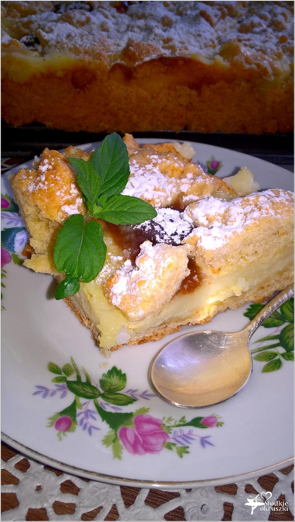 Kruche ciasto z budyniem i marmoladą (1)