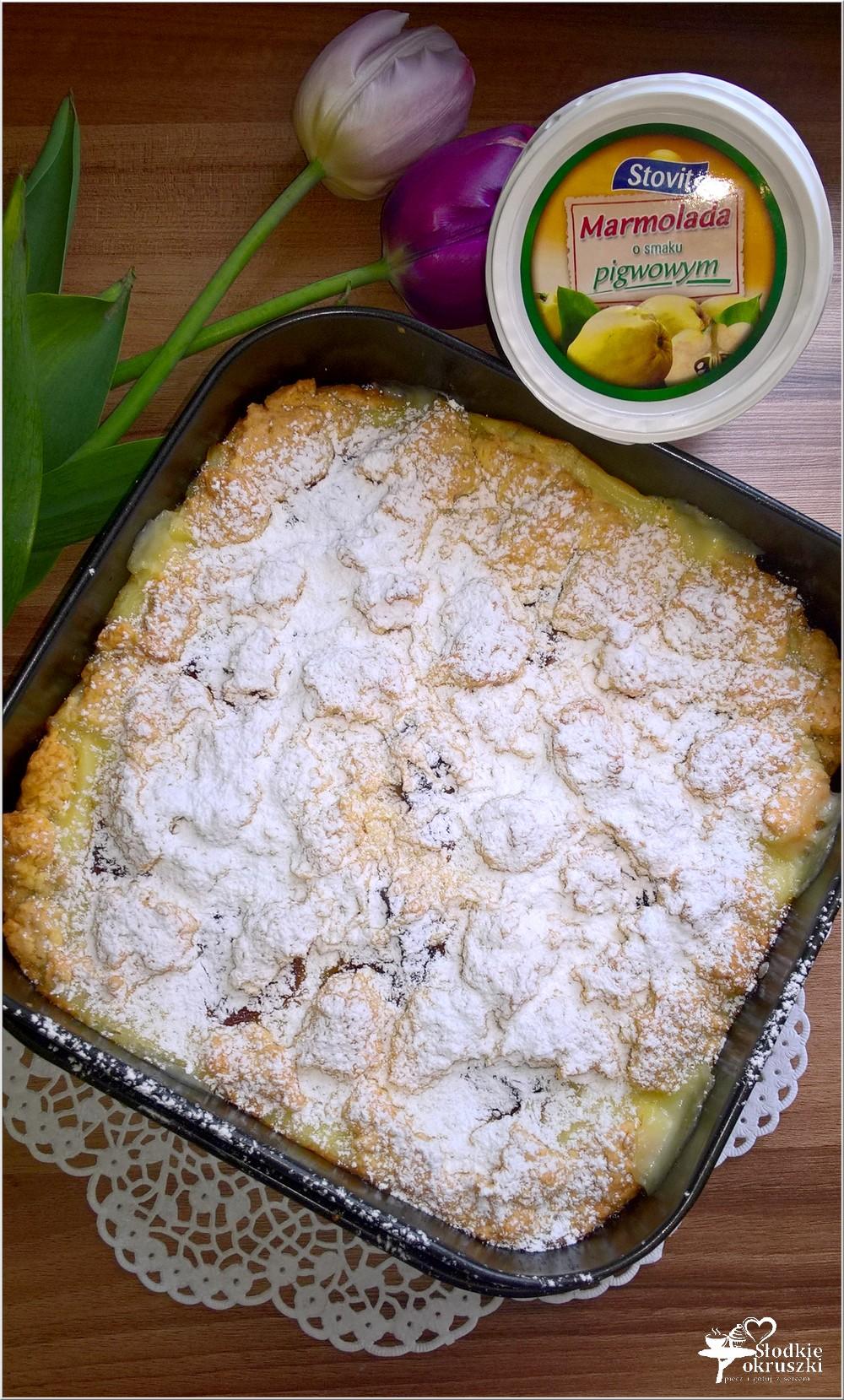 Kruche ciasto z budyniem i marmoladą (3)