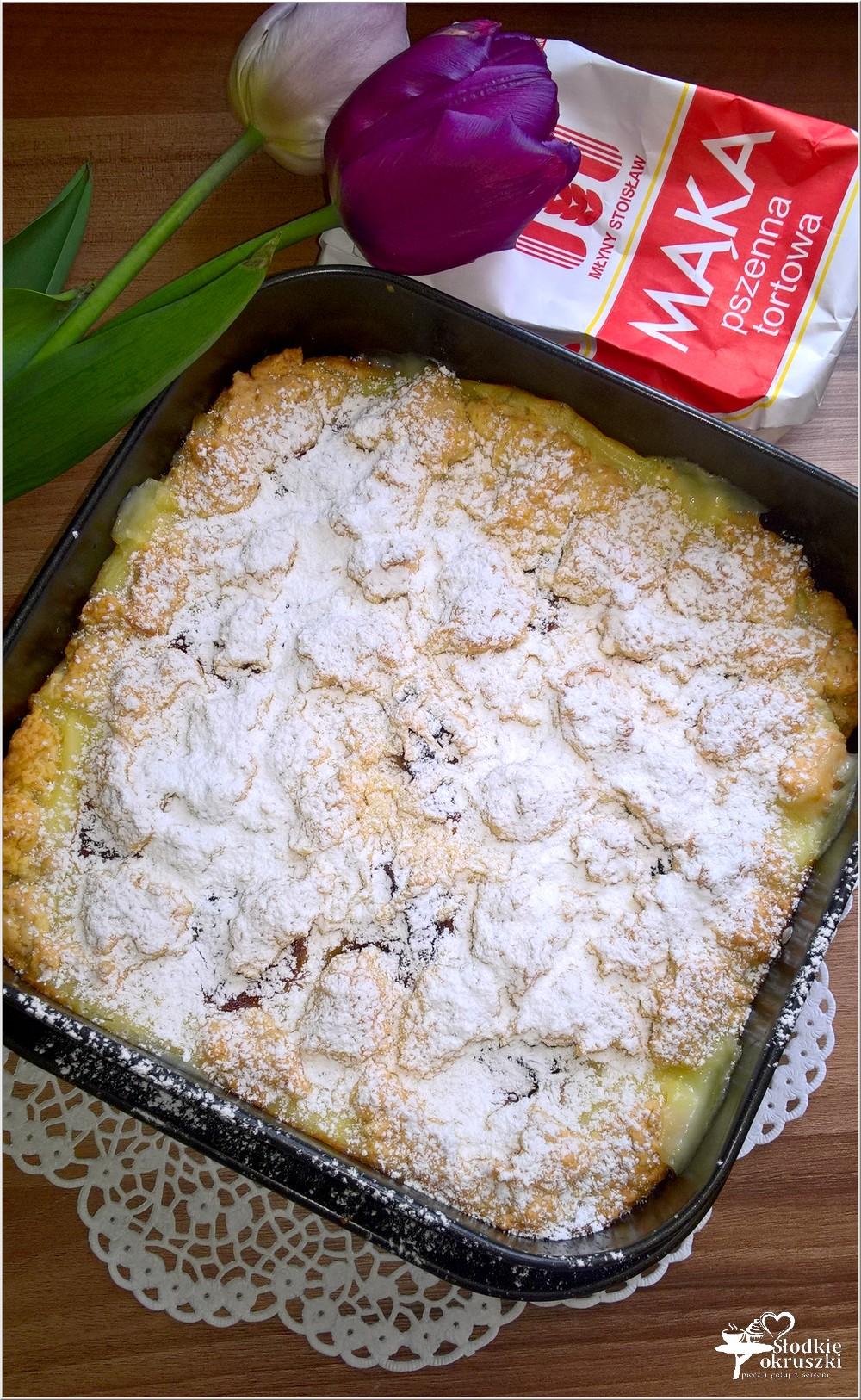 Kruche ciasto z budyniem i marmoladą (4)