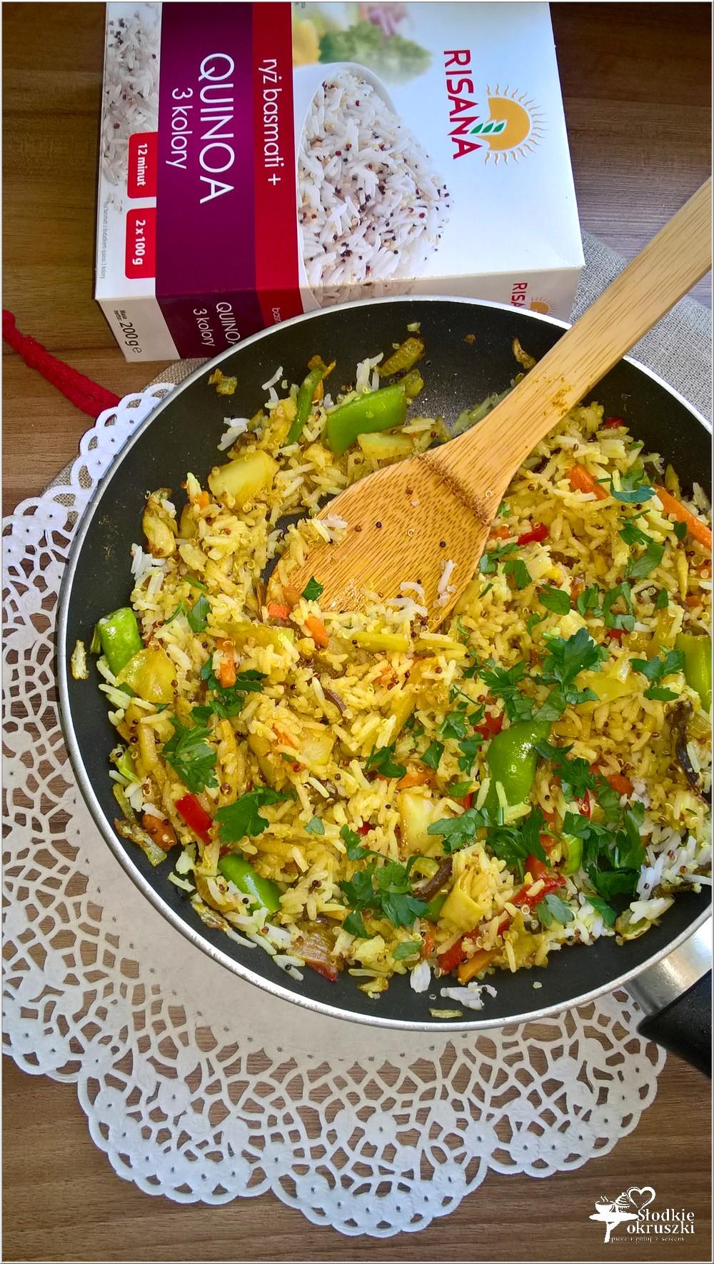 Quinoa z ryżem w azjatyckim wydaniu. Szybki obiad (2)