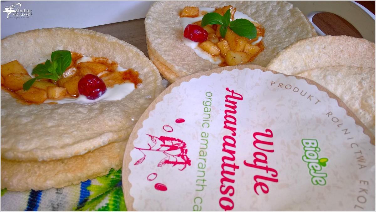 Szybki deser z cynamonowym jabłuszkiem na chrupiących waflach (3)