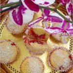 Babeczki na oleju kokosowym z wiśniową niespodzianką