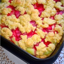 Ciasto z truskawkami i budyniem (kruche) (1)