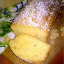Proste ciasto cytrynowe z kandyzowanym ananasem