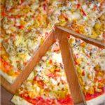 Cebulowa pizza (na suchych drożdżach)