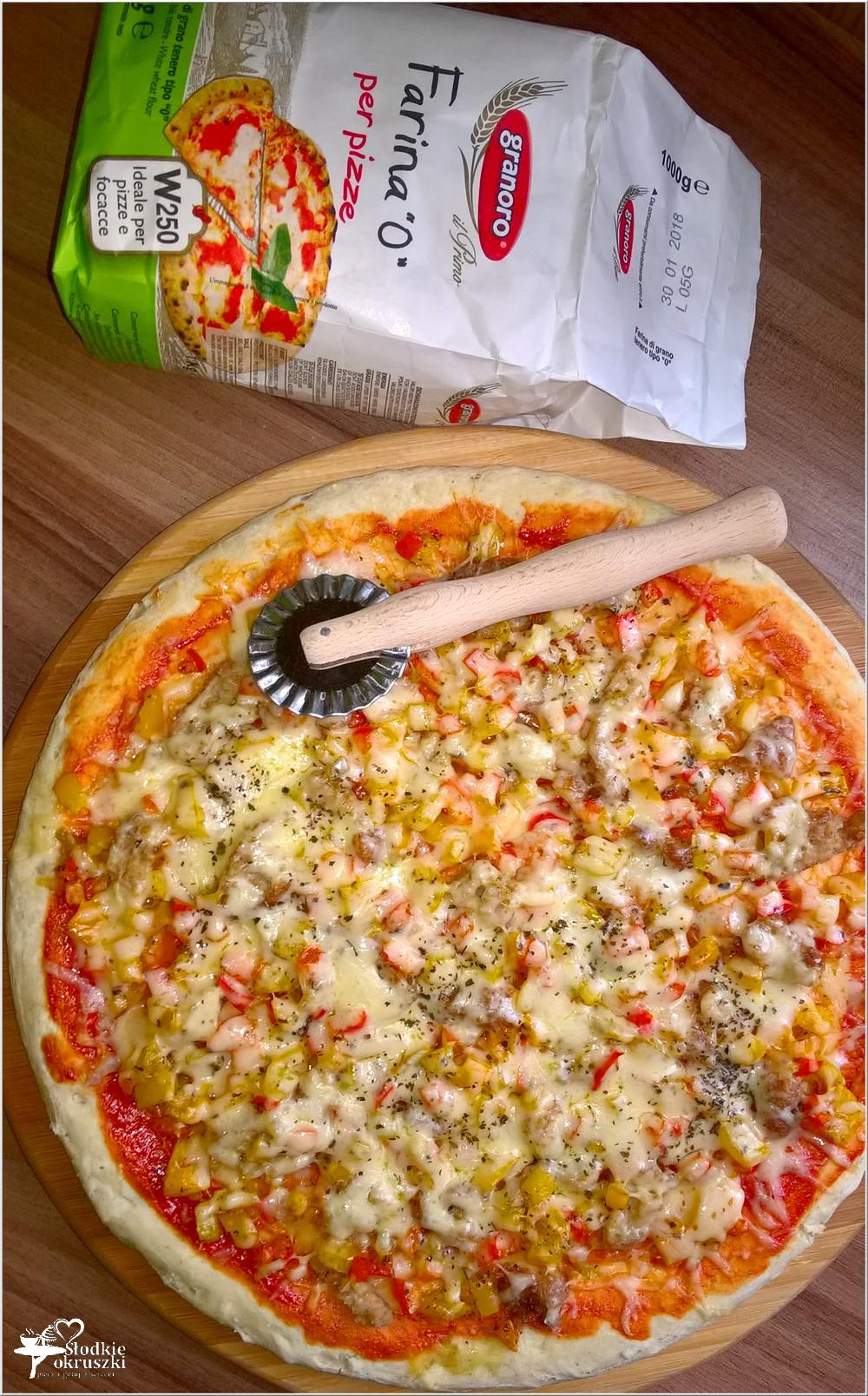 Cebulowa pizza (na suchych drożdżach) (3)