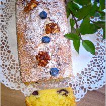 Ciasto z jagodami i orzechami włoskimi w karmelu (bez miksera) (1)