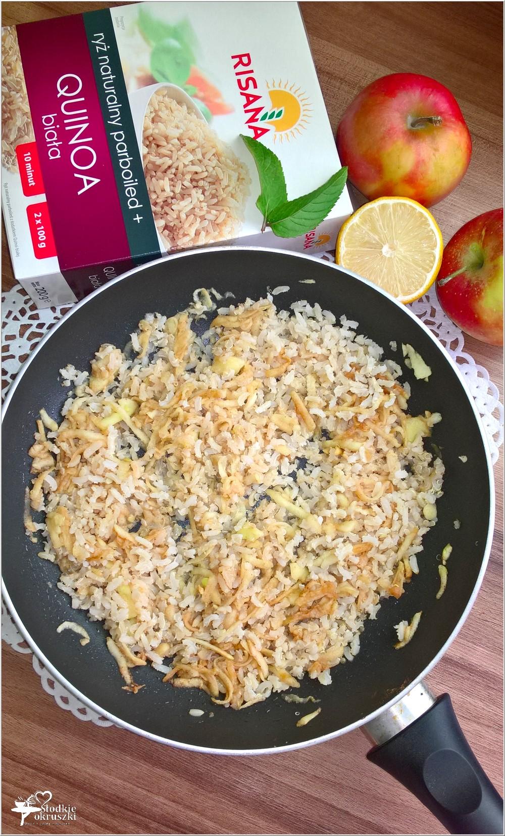 Quinoa z ryżem i jabłkami (2)