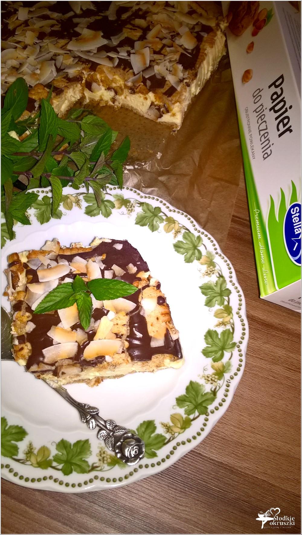 Gotowany waniliowo - śmietankowy sernik (na herbatnikach) (2)