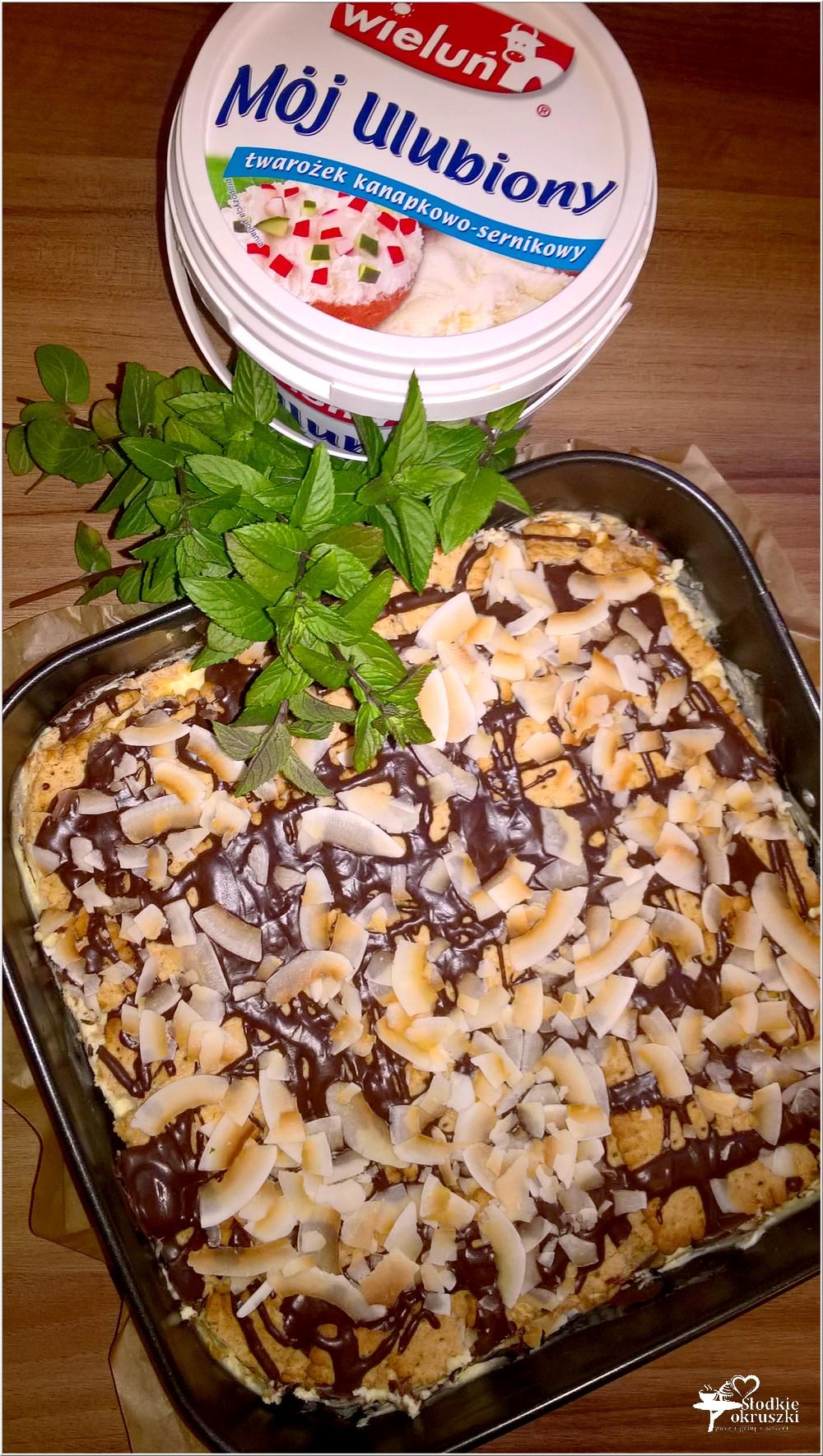 Gotowany waniliowo - śmietankowy sernik (na herbatnikach) (4)