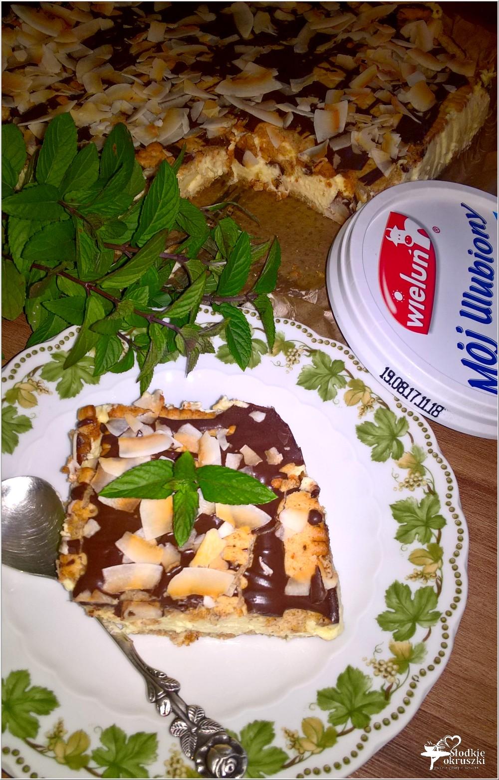 Gotowany waniliowo - śmietankowy sernik (na herbatnikach) (7)