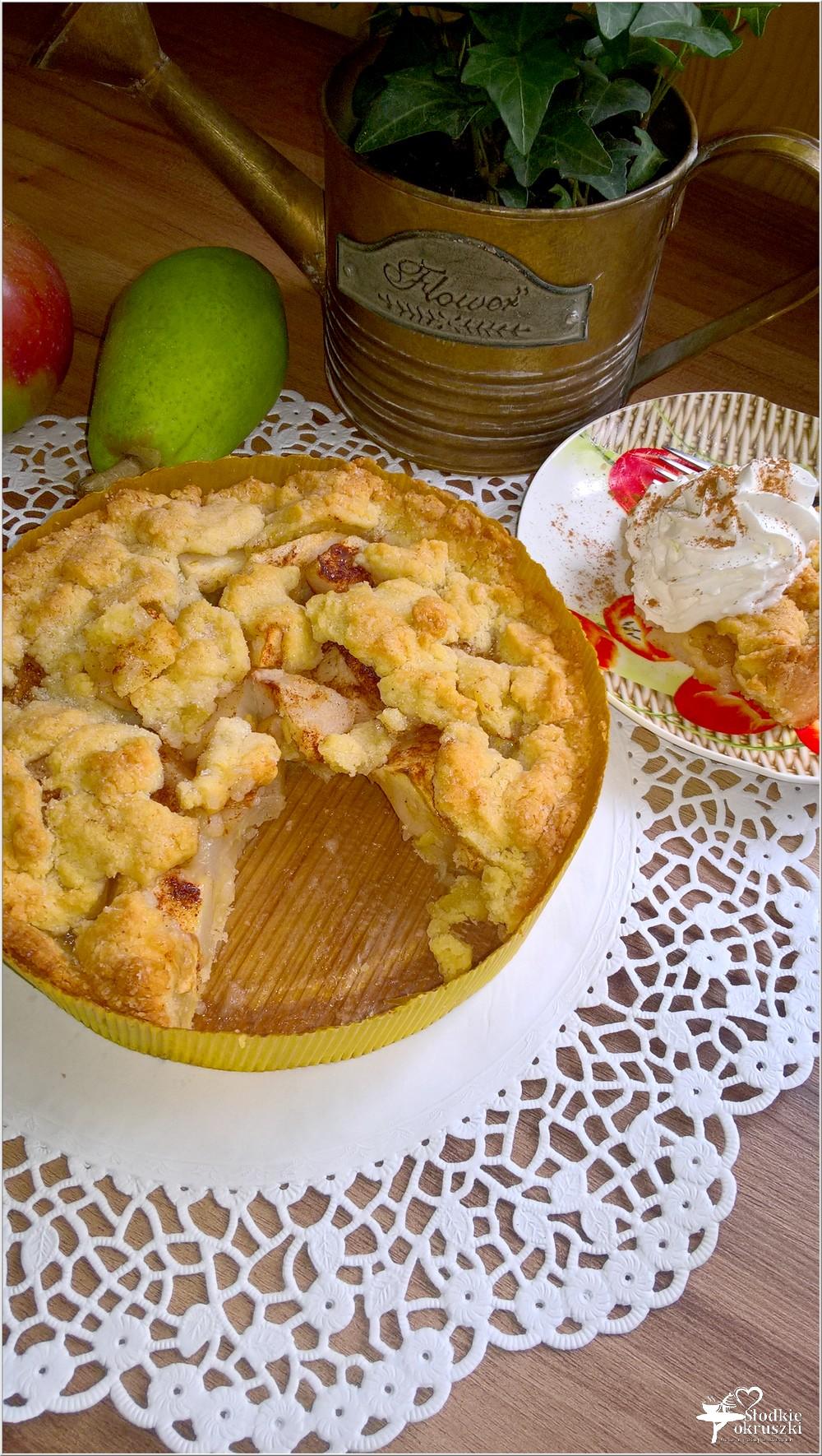 Gruszkowo-jabłkowe ciasto deserowe (kruche) (2)