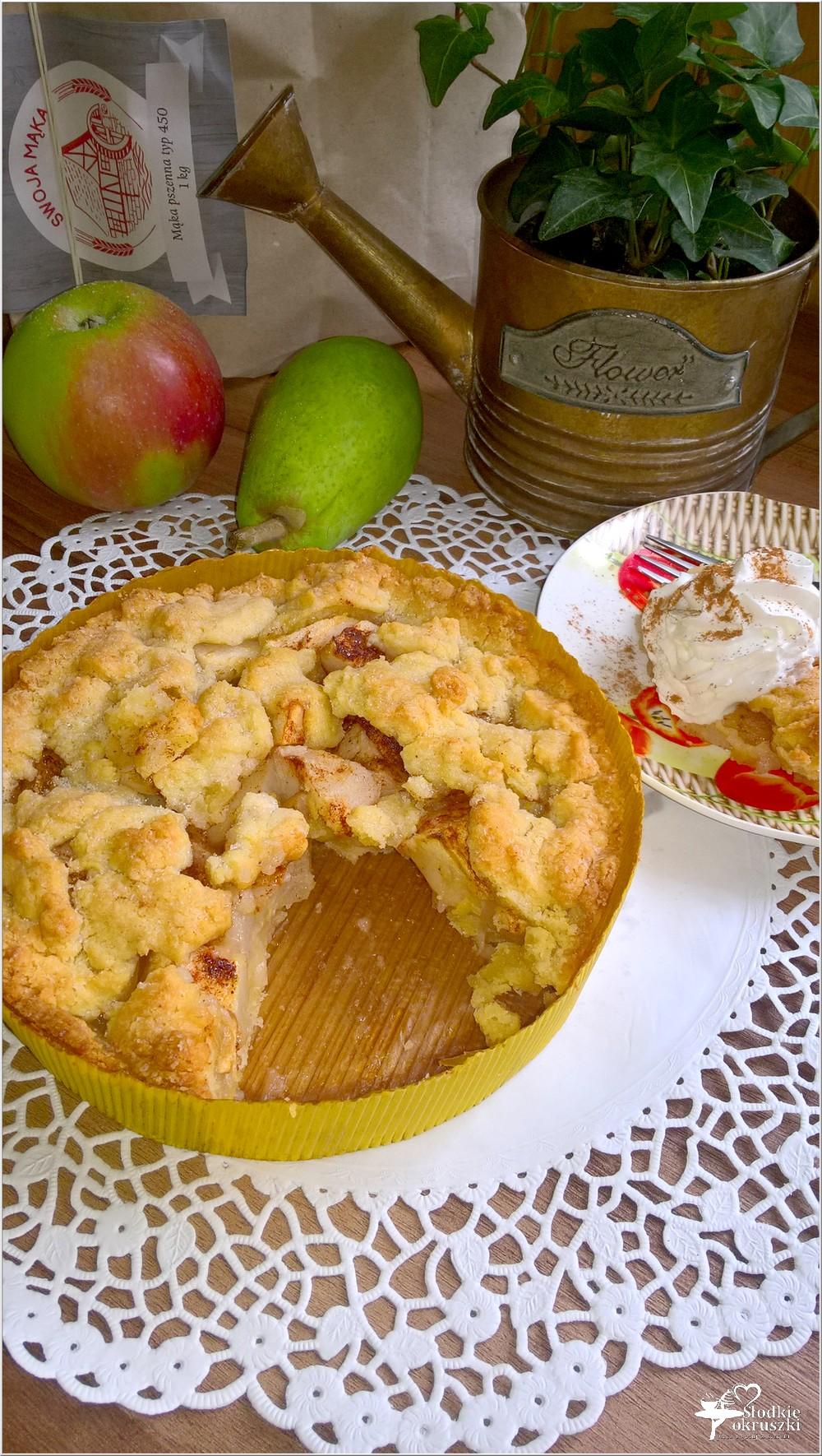 Gruszkowo-jabłkowe ciasto deserowe (kruche) (3)