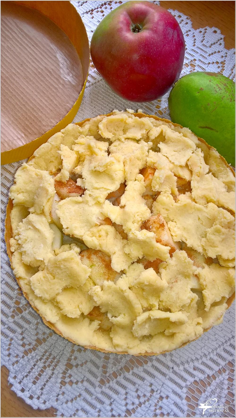 Gruszkowo-jabłkowe ciasto deserowe (kruche) (6)