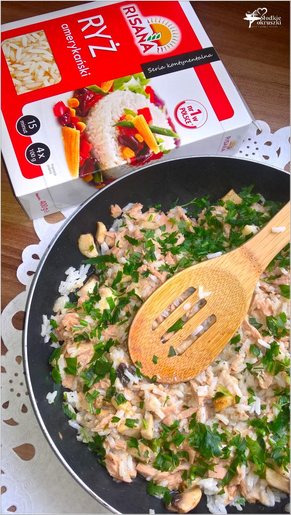 Szybki ryż z tuńczykiem i pieczarkami (2)