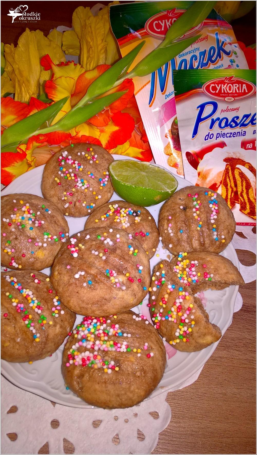 Szybkie czekoladowe ciasteczka z limonkową nutą (3)