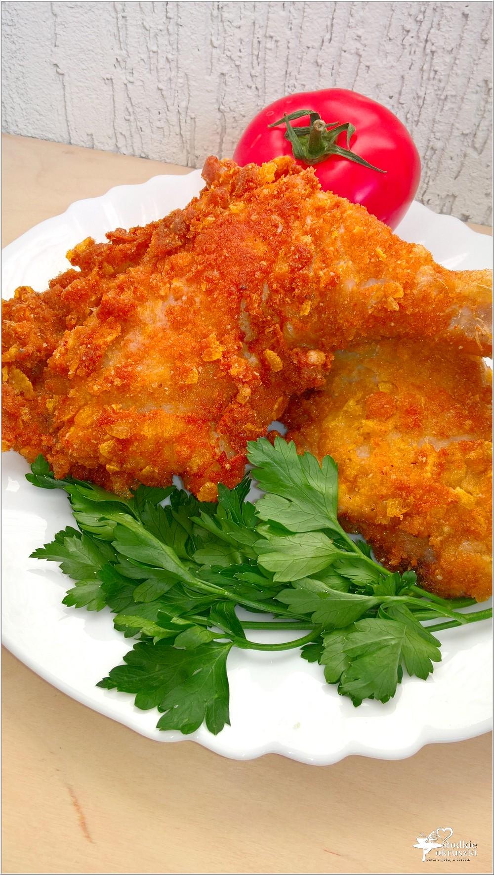 Chrupiące nóżki z kurczaka w kukurydzianej panierce