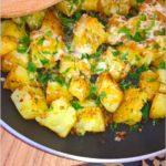 Chrupiące ziemniaczki z ziołami i serem (z patelni)