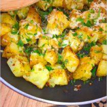 Chrupiące ziemniaczki z ziołami i serem (z patelni) (1)