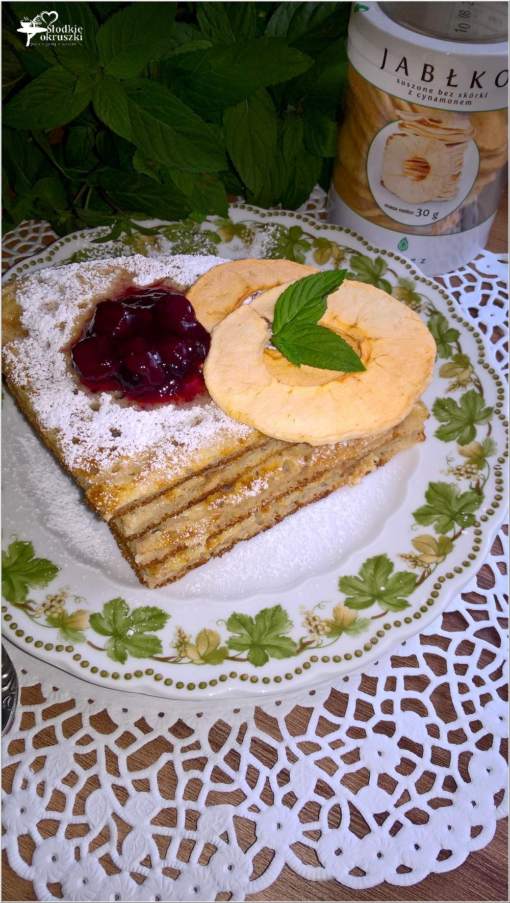 Cynamonowy omlet z jabłuszkiem (3)