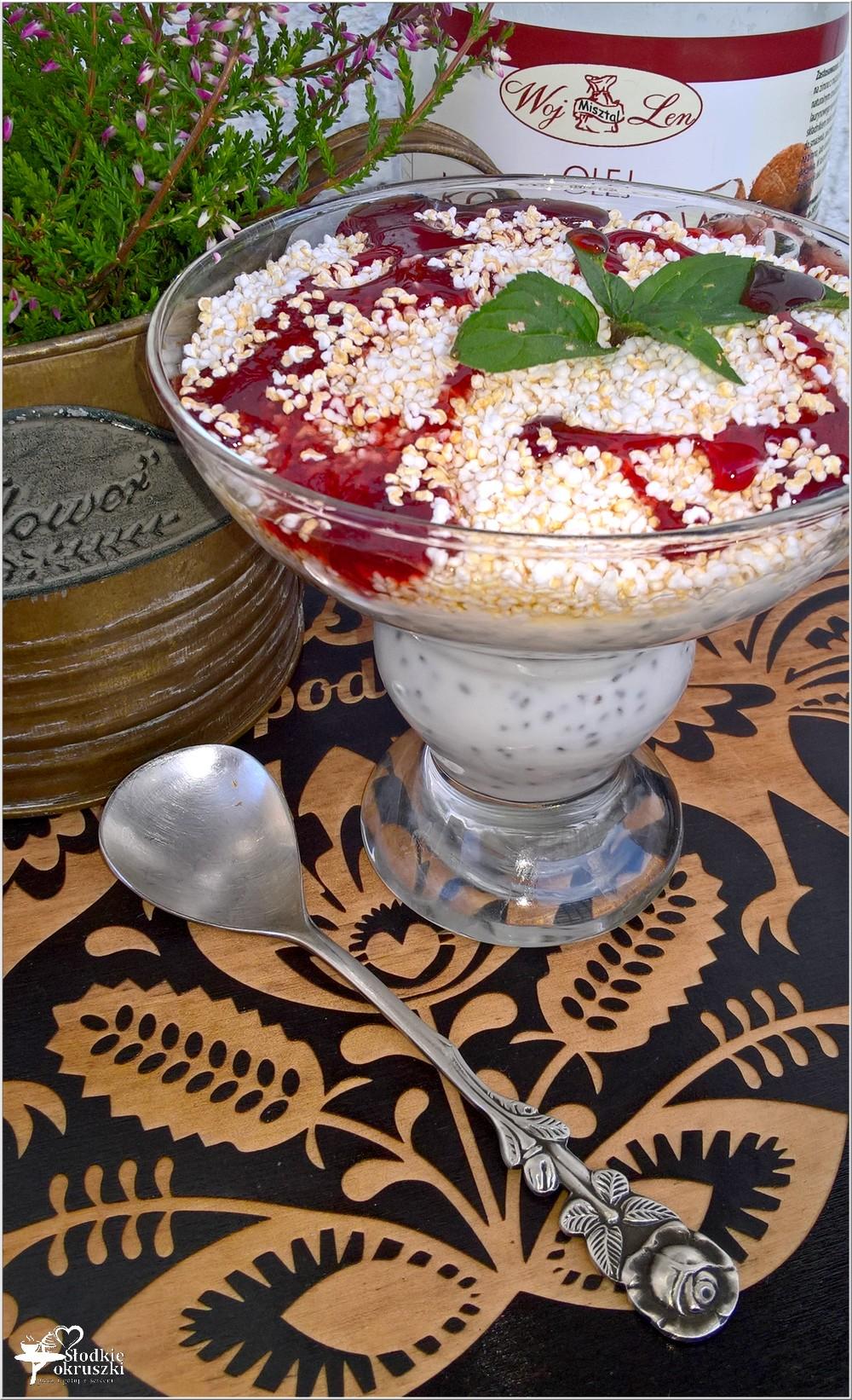 Lekki deser chia z ekspandowanym amarantusem i słodkim jabłuszkiem (2)