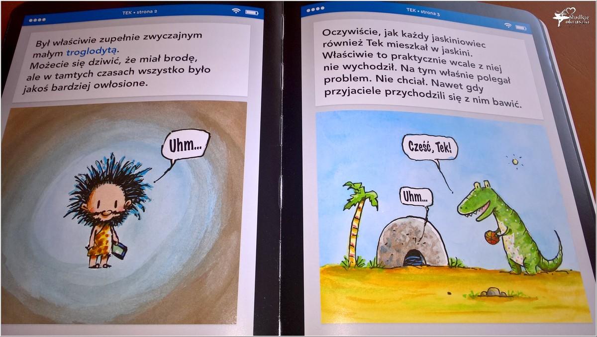 Polecam! TEK Nowoczesny jaskiniowiec. Książka dla dzieci (6)