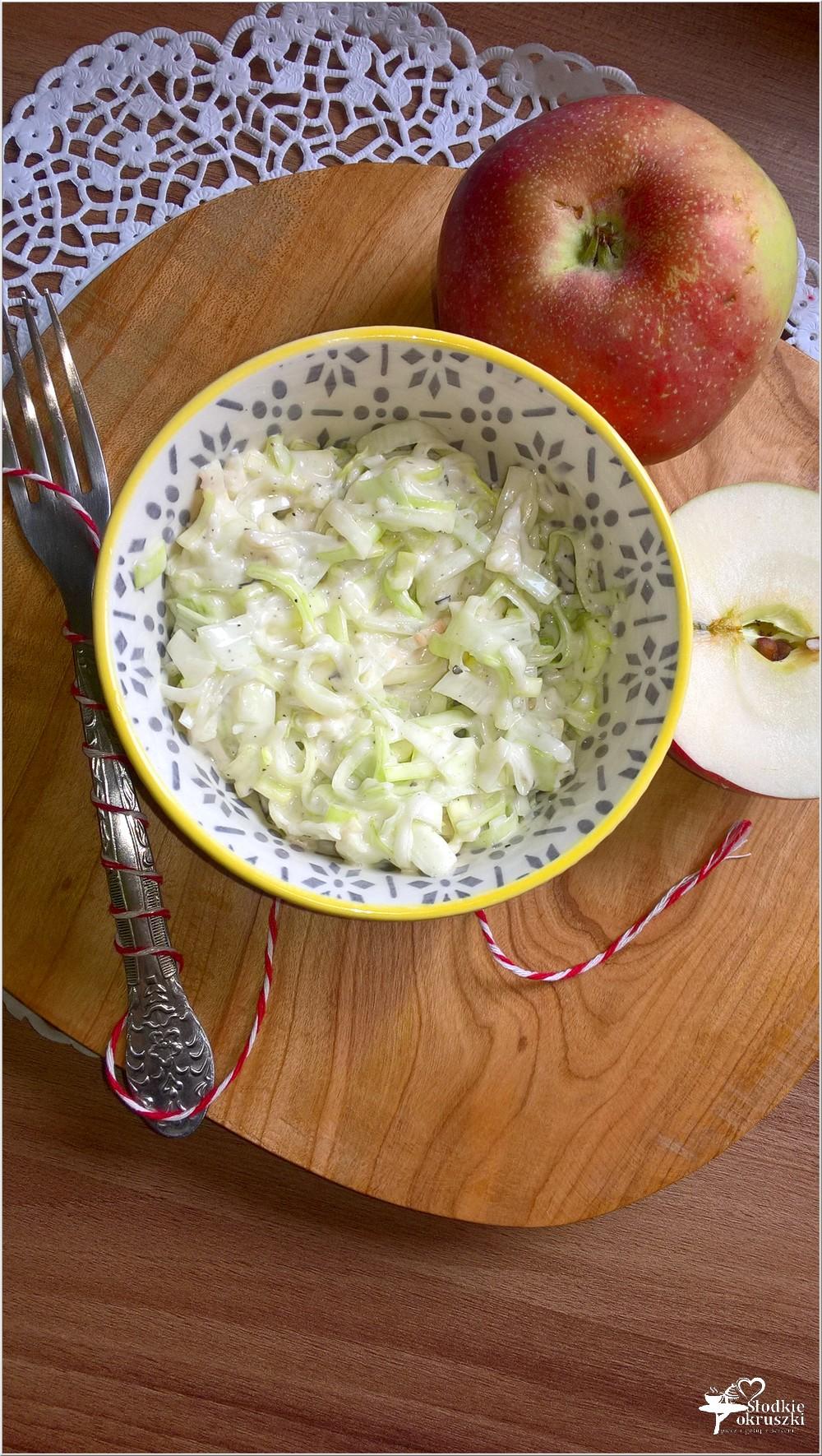 Szybka sałatka z pora z bazyliową nutą (1)
