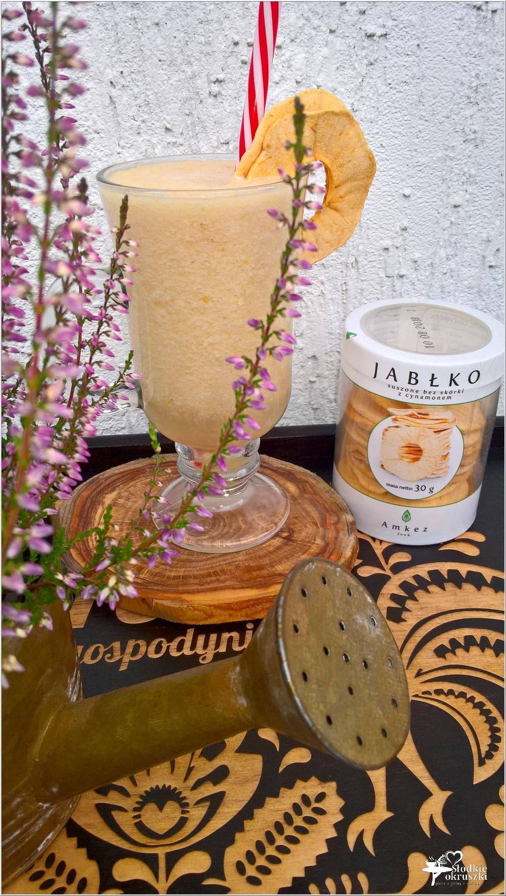 Jabłkowo-gruszkowe smoothie na wodzie kokosowej (2)