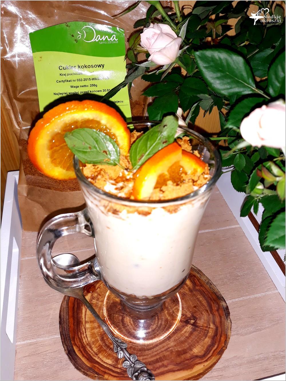 Kremowy deser kokosowo sernikowy (z żurawiną i pomarańczą) (2)