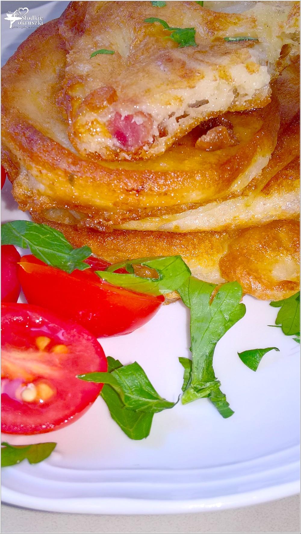 Placuszki z kabanosem (na śniadanie lub szybki obiad) (2)
