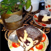 Rodzinne ciasto serowo-czekoladowe z dżemem porzeczkowym (1)