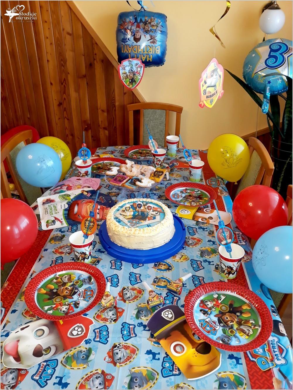 Urodziny mojego 3-latka. Przyjęcie fana Psiego Patrolu.