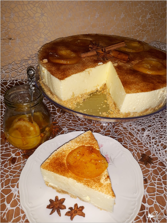 Delikatny pomarańczowo-cytrynowy sernik (1)