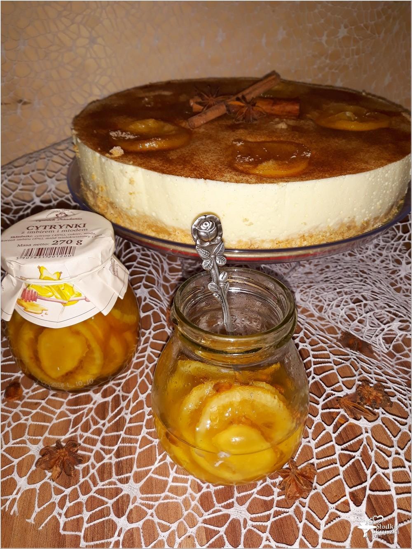 Delikatny pomarańczowo-cytrynowy sernik (2)