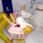 Deser z karmelizowanym bananem i lodami. I kilka słów o marce Hefra.