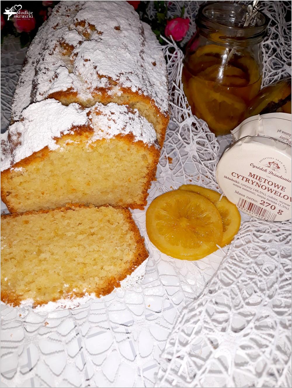Ekspresowe ciasto jogurtowe z miętowymi cytrynkami (bez miksera) (4)