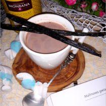 Gorąca waniliowa czekolada na powitanie śnieżnych dni