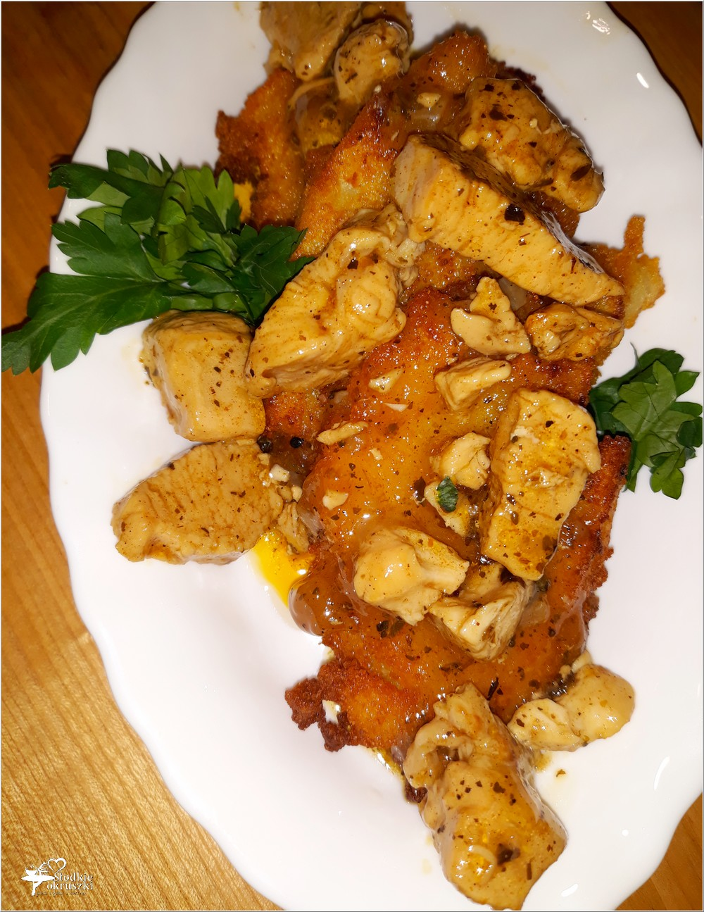 Placki ziemniaczane z kurczakiem w ziołowym sosie (1)