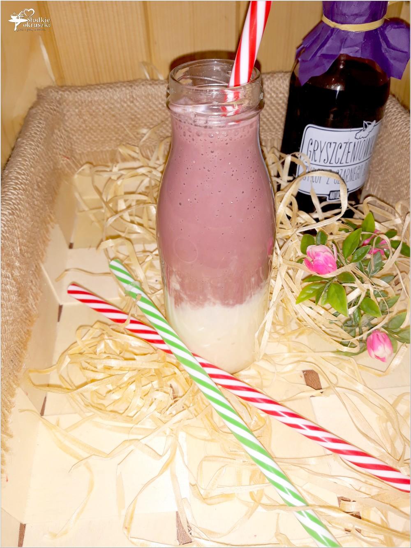 Warstwowy koktajl z syropem z czarnego bzu i kilka słów o miodowej trufli (2)