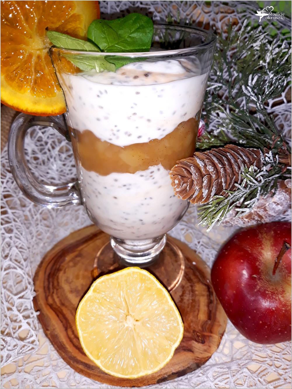 Cynamonowy deser z chia + przepis na prażone jabłka z cynamonem (1)