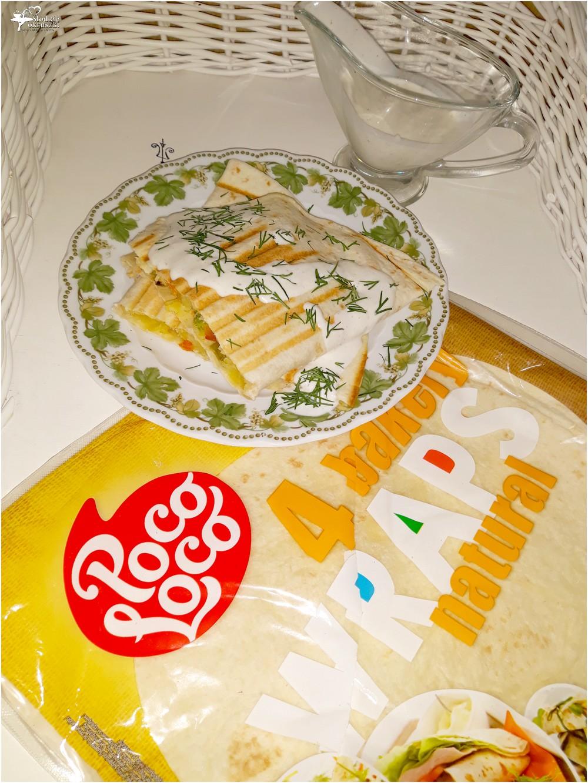 Grillowana tortilla z warzywami i domowym sosem czosnkowym (2)