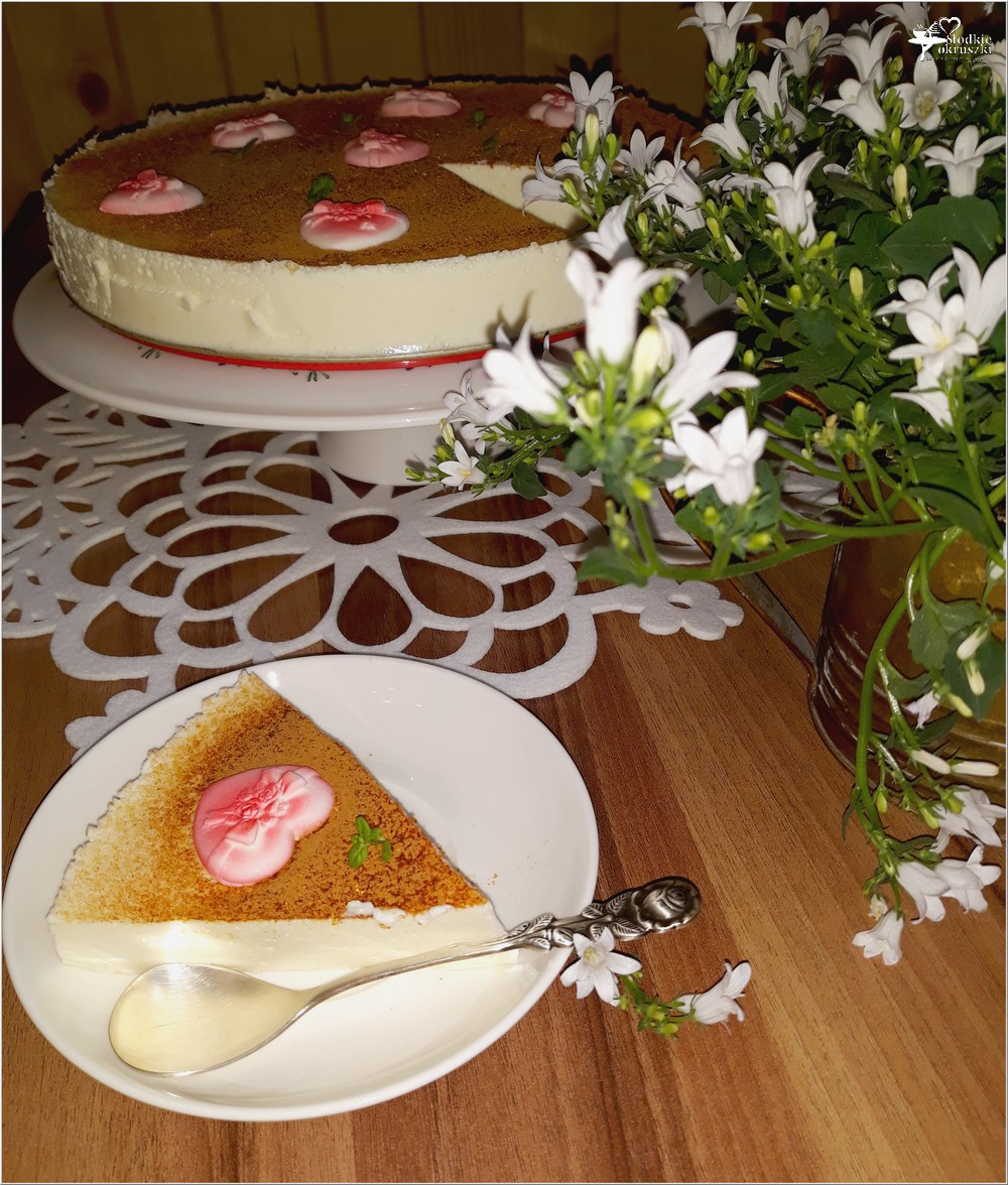 Walentynkowy sernik pinacolada