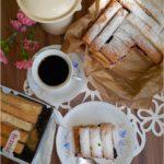 Francuskie ciasto budyniowe z konfiturą porzeczkową (deser bez pieczenia)