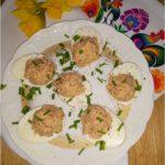 Jajka faszerowane tuńczykiem (z olejem rzepakowym, bez majonezu)