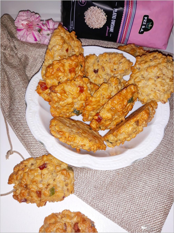 Owsiane ciasteczka z kandyzowaną skórką (2)