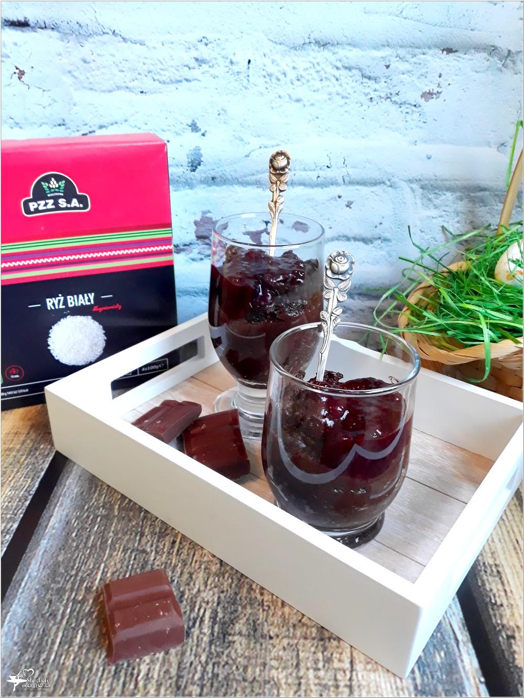 Ryżowy budyń czekoladowy z konfiturą owocową (2)