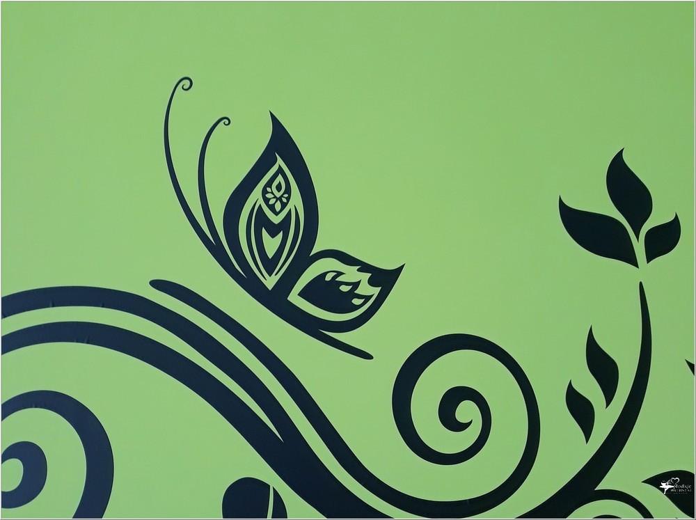 naklejka na ścianę trzy motyle