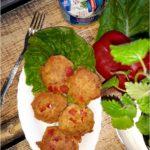 Dietetyczne kotleciki tuńczykowe z papryką (na mące kukurydzianej)